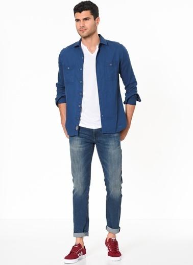 Mavi Uzun Kollu Gömlek Mavi